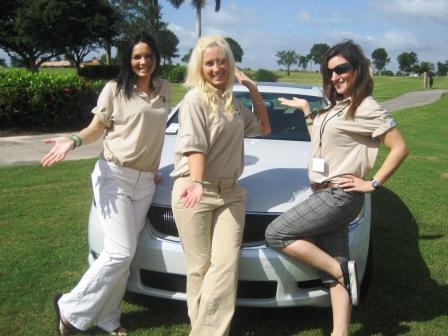 katie - amy - shelly at car