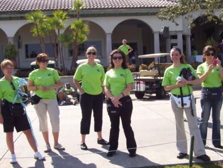 Golf volunteers