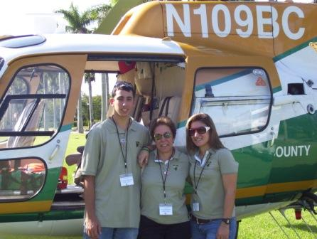 nick, michelle, diane -  sheriffs helicopter
