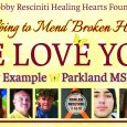 To ALL MSD Families, Students, Faculty, First Responders, Friends, Neighbors and Community Members: With the recent tragedy at Stoneman, we at the Bobby Resciniti Healing Hearts Foundation are hosting a Healing […]
